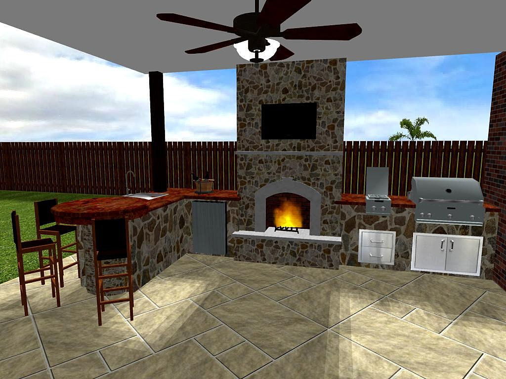 Outdoor Kitchens Patio Covers Katy Tx Houston 3d Design Outdoor Kitchens