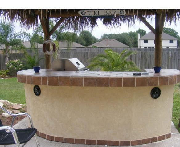 Backyard Grill Houston : Outdoor Kitchens,Patio Covers Katy Tx,Houston  Tiki BBQ Island