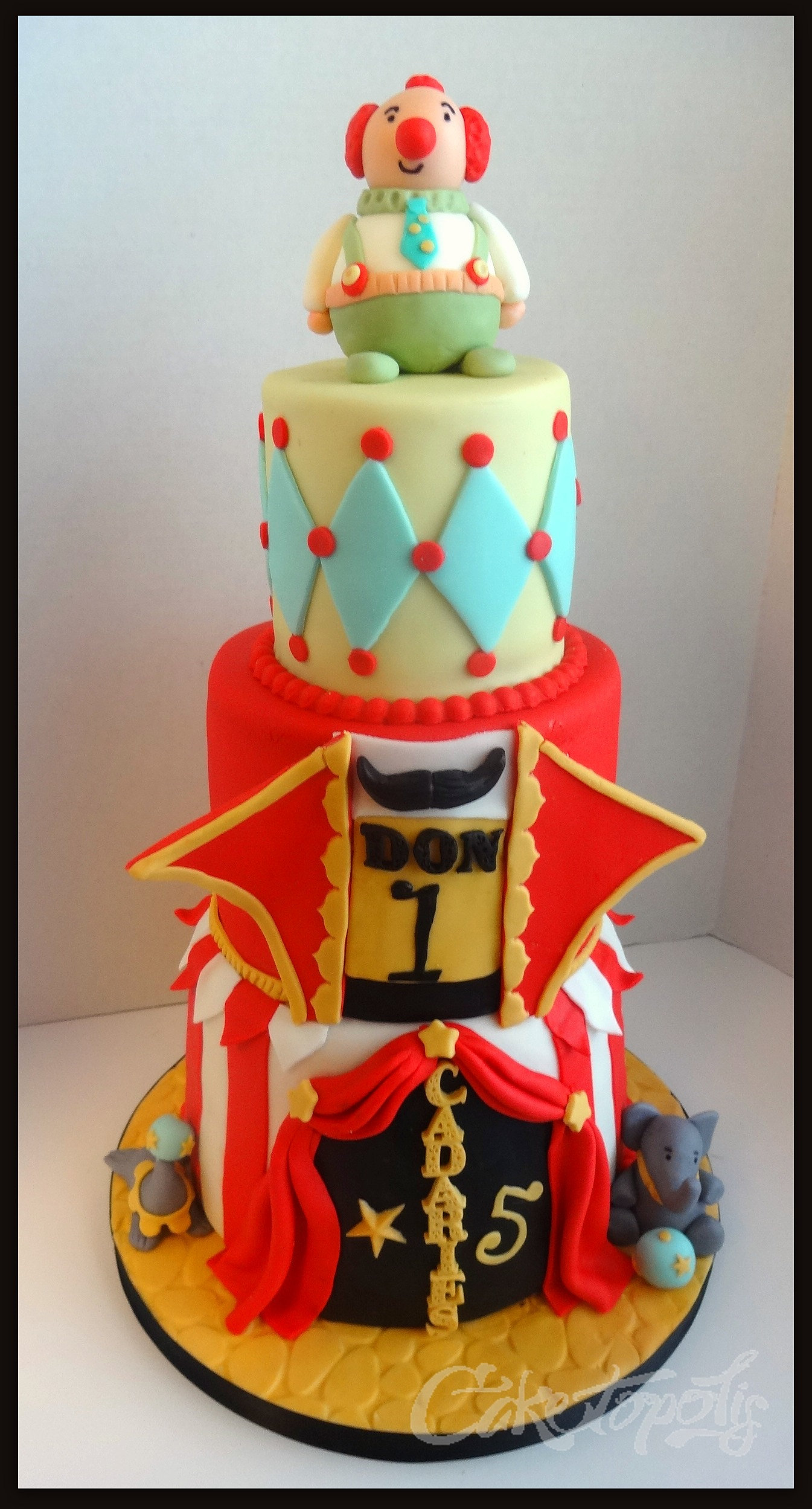 Caketopolis Custom Cakes Vintage Circus Cake
