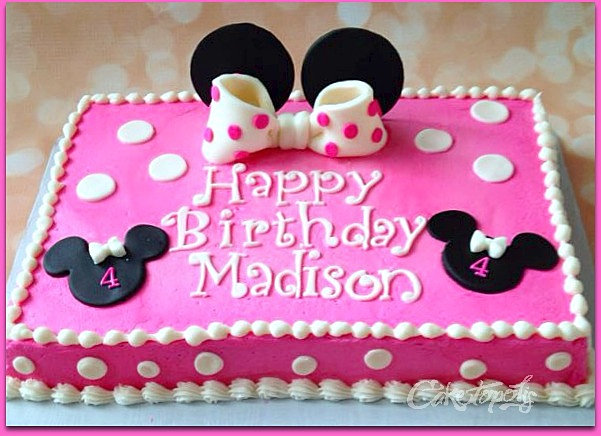 Minnie Mouse Sheet Cake Images : Caketopolis Custom Cakes Minnie Mouse Polka Dot Sheet Cake