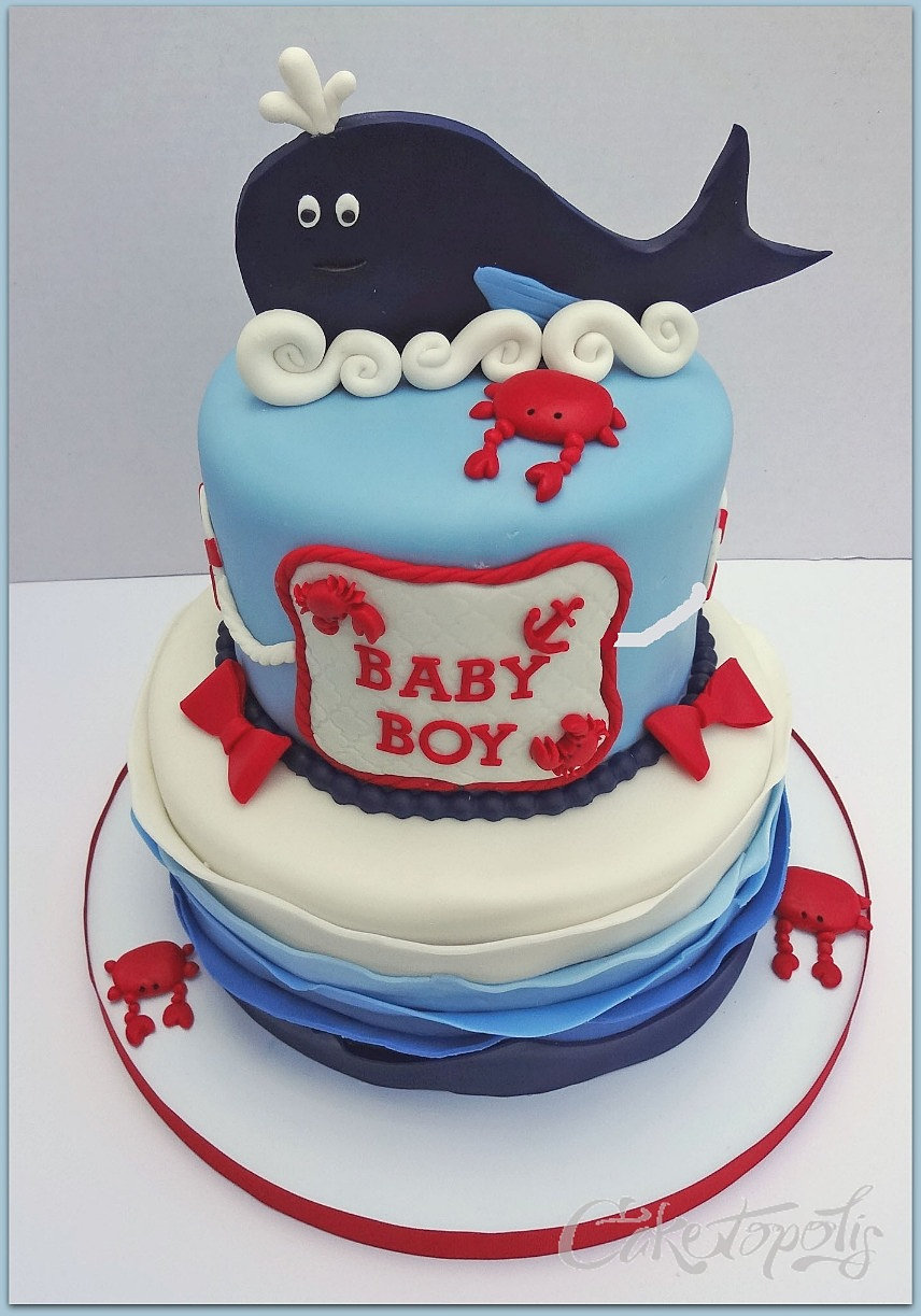caketopolis custom cakes nautical baby shower cake