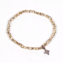little gold beads and charm bracelet.jpg