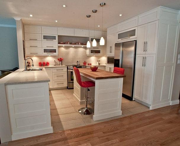 Catherine c leveille designer d interieur cuisines sainte anne des lacs - Cuisine intemporelle ...