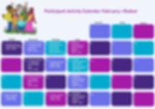 Participant Activity Calendar - Redcar -