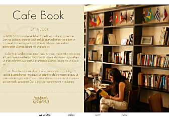 Coffee Bar Template - Looking for a book nook type of web design? Here's a template that will create that special cozy corner feel while keeping the navigation open and simple. Ready for restauranteurs to add a menu and offer gift cards.