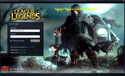 league of legends login page