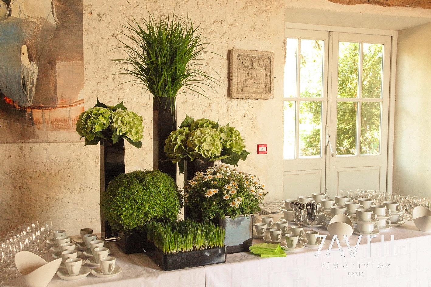 7 avril d coration florale fleuristes abonnement floral paris motif - Decoration de buffet ...