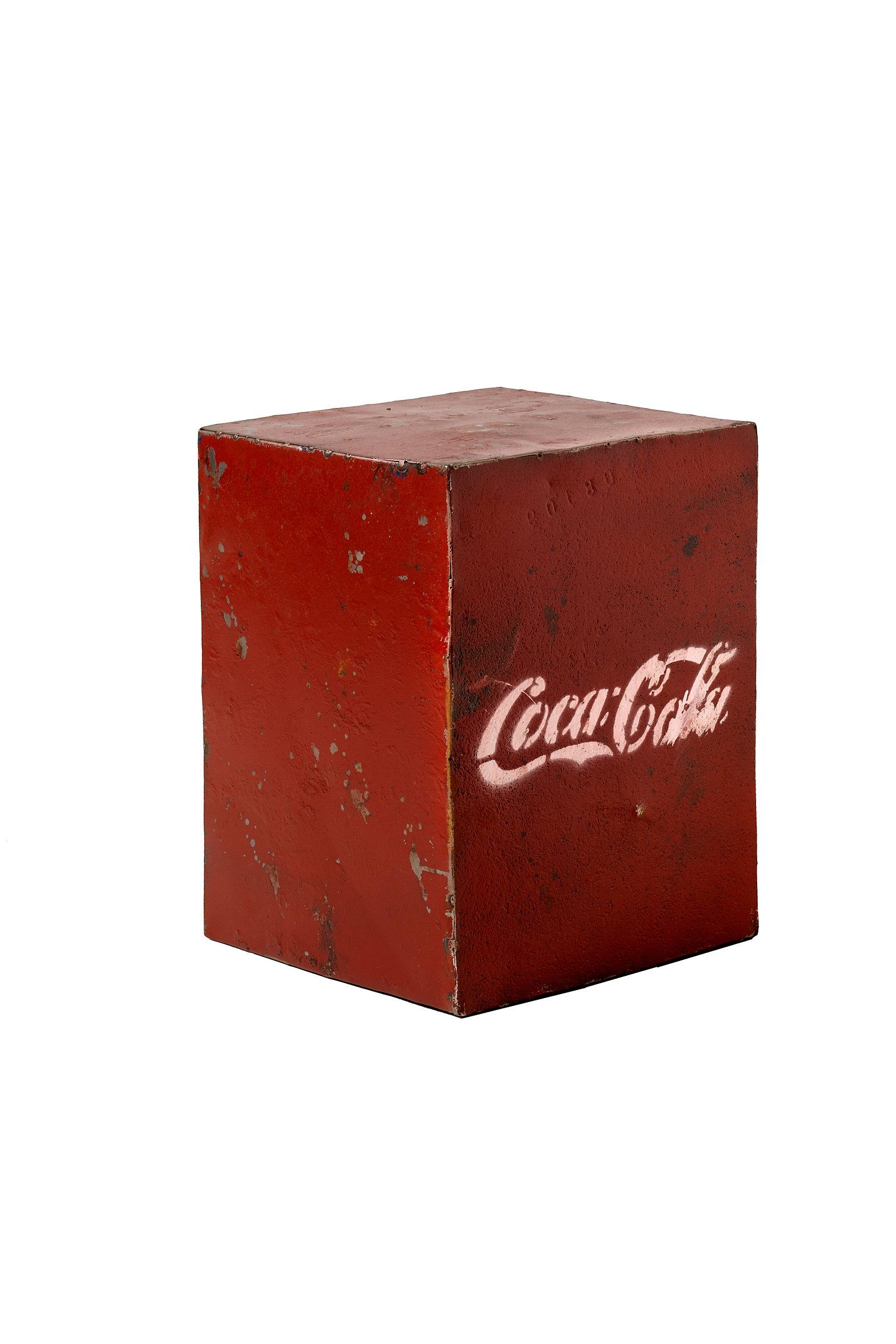 Calma chechu venta de muebles vintage industrial cubo - Chapa coca cola pared ...