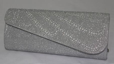 sac soire gris argent orn de strass - Pochette Argente Mariage