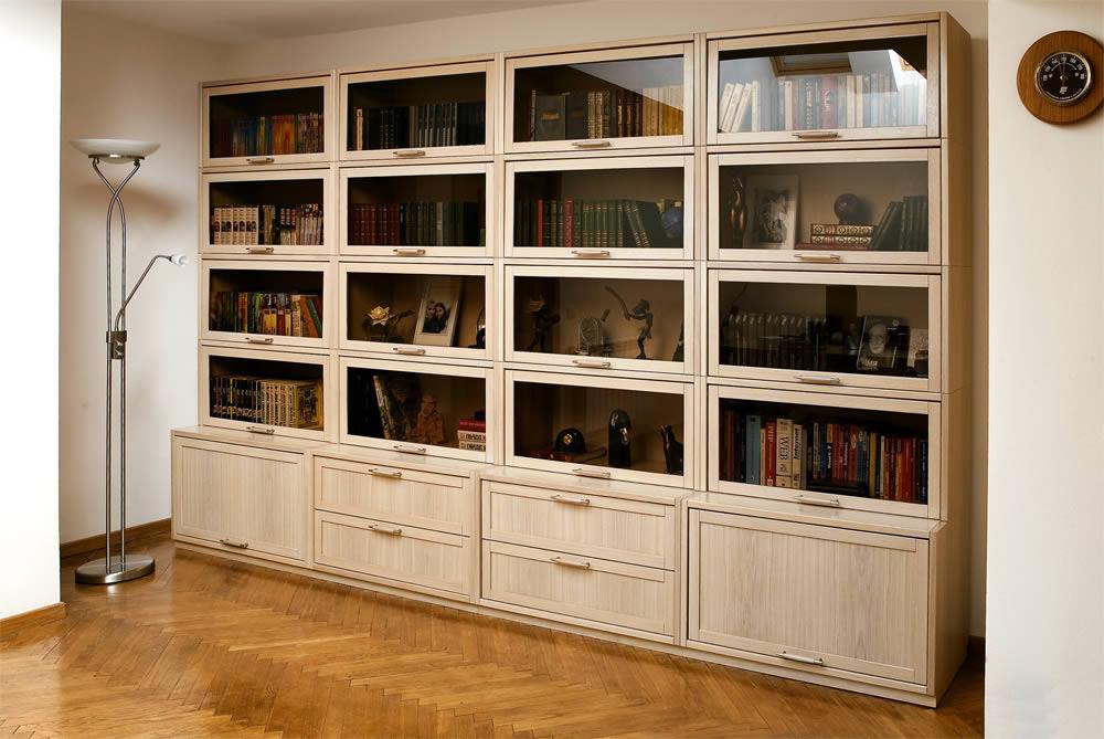 Книжные стенки белые для дома дешево.