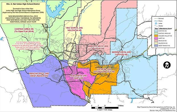 map of william s hart school district boundaries