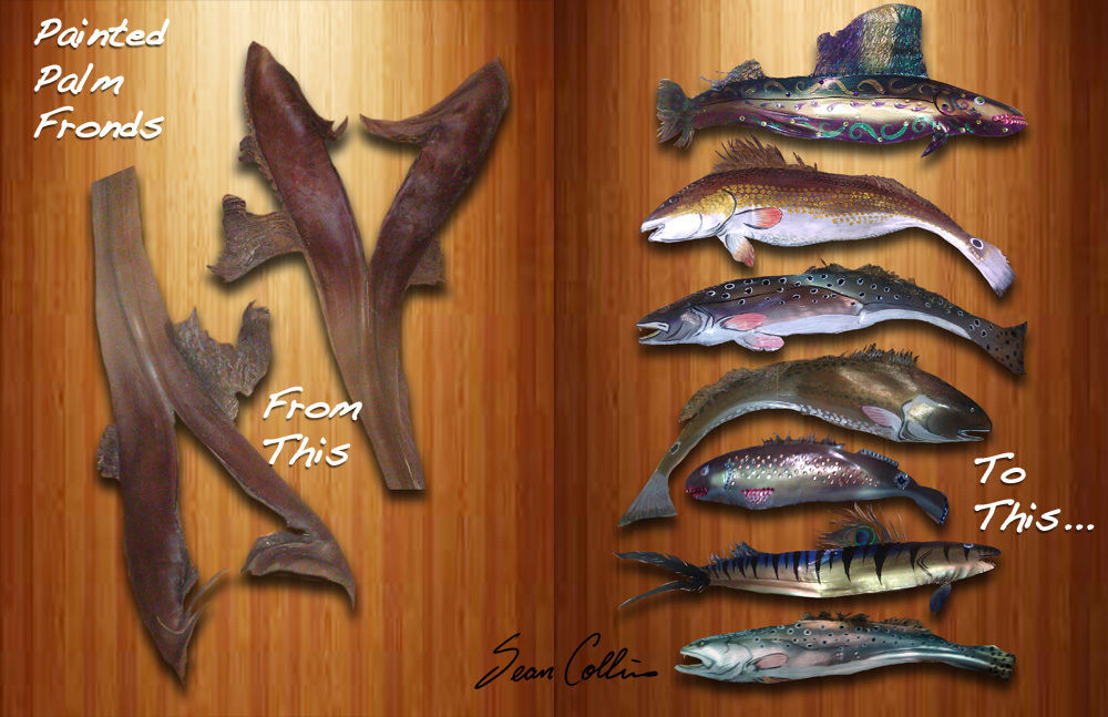 Painted Palm Frond Fishes2ndBatch.jpg