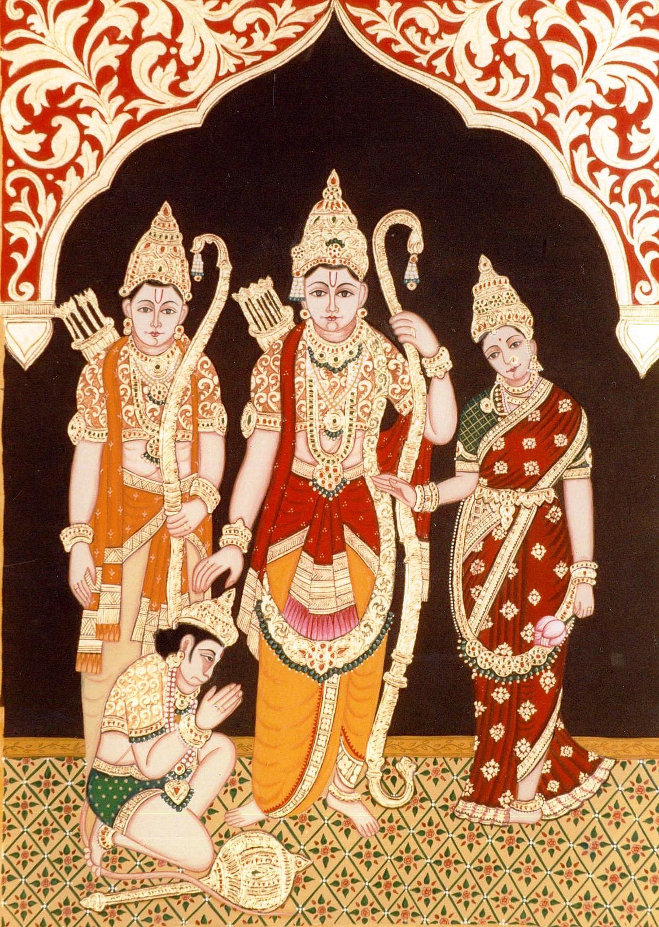 Ram Price >> Vinyas Art Studio - Tanjore, Mysore and Rajasthani Paintings | Ram lakshman sita
