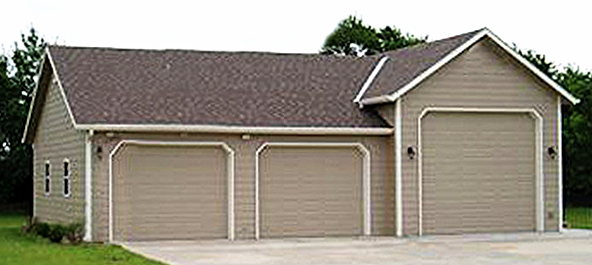 Nc garage builders custom garage building 3 car garage for Building a 3 car garage