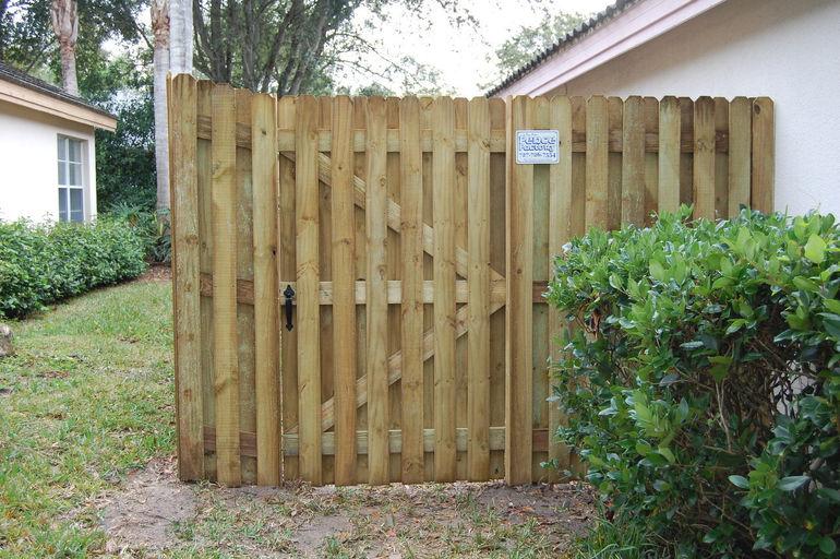 Gates of Shadows Wood Fence Shadow Box Gate