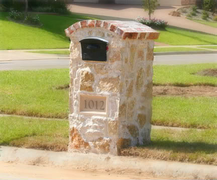 brick stone mailboxes 1