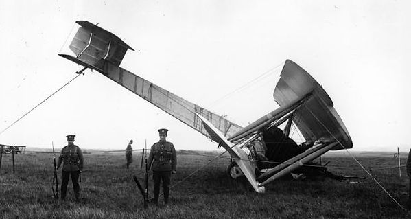 Alcock & Brown's modified Vickers Vimy Bomber after it 'landed' not far from Clifden