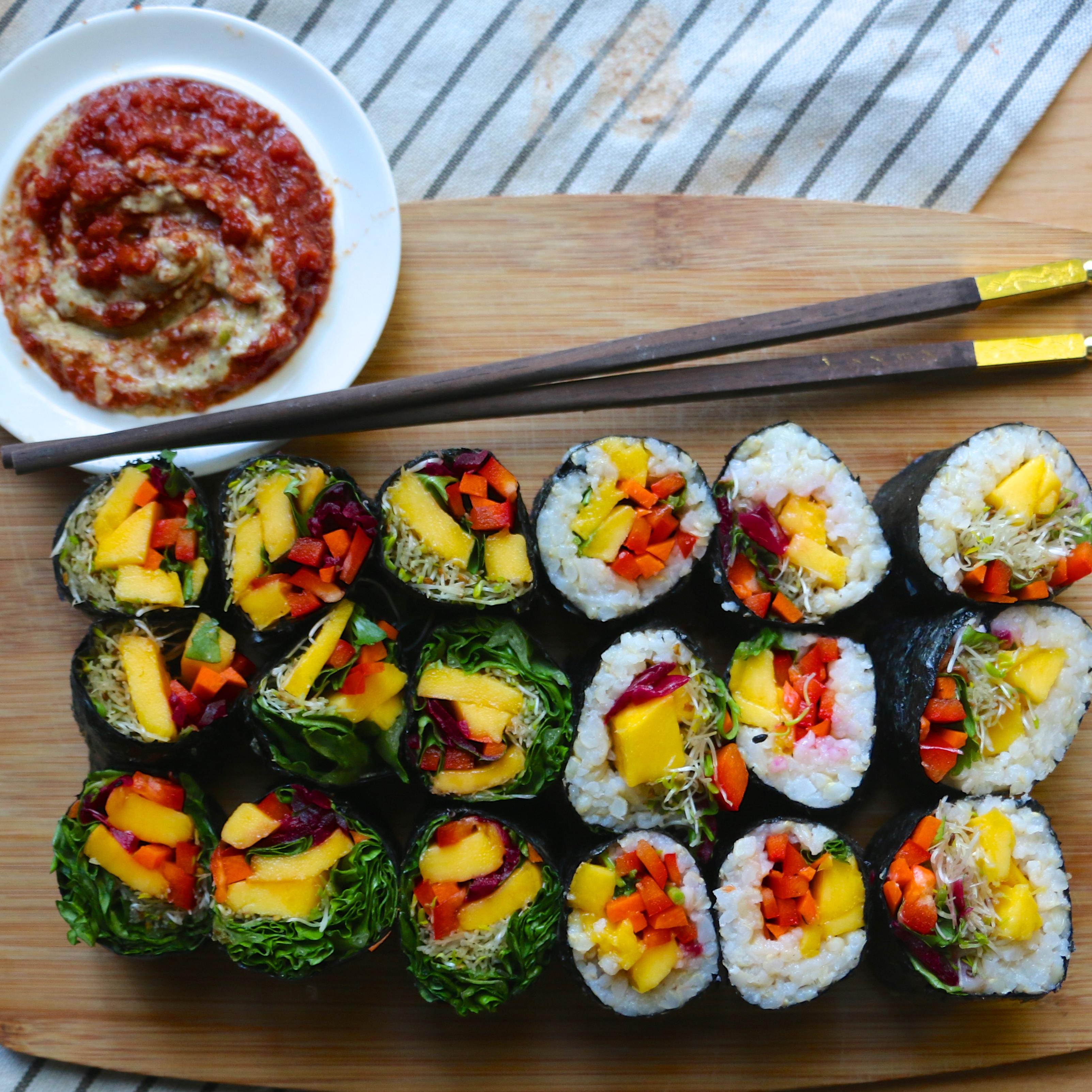 Raw (or Cooked) Mango Sushi