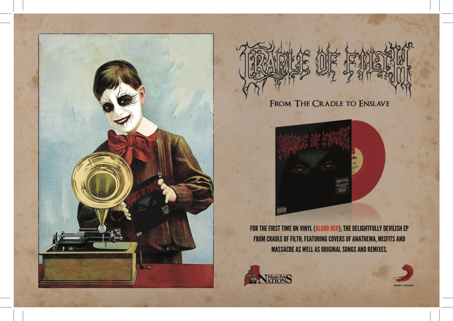 'From The Cradle To Enslave' Vinyl Release. | Cradle of ...