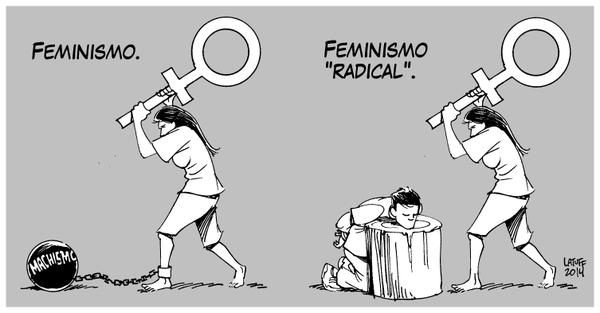 Resultado de imagen de Feminista, intolerante y radical