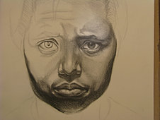 Self-Portrait Sketch (detail)