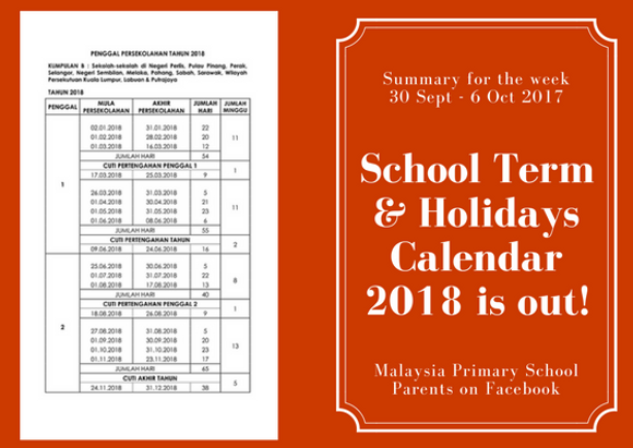 School Holidays 2018 | Malaysia Children Courses And Programs