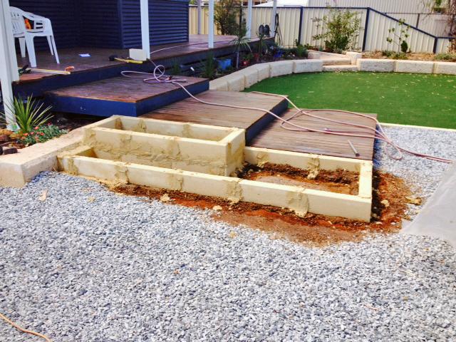 Landscaping With Limestone Blocks : Limestone blocks garden edge planter box for experienced