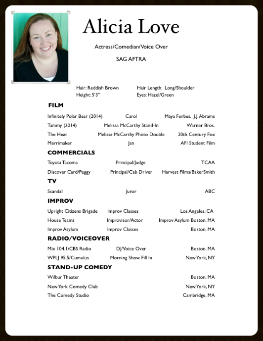 10 acting resume templates free samples examples - Actress Resume Template