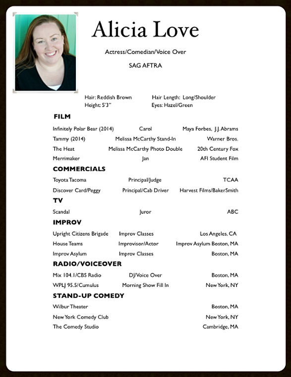 Voice Actor Resume Sample Ebook Database