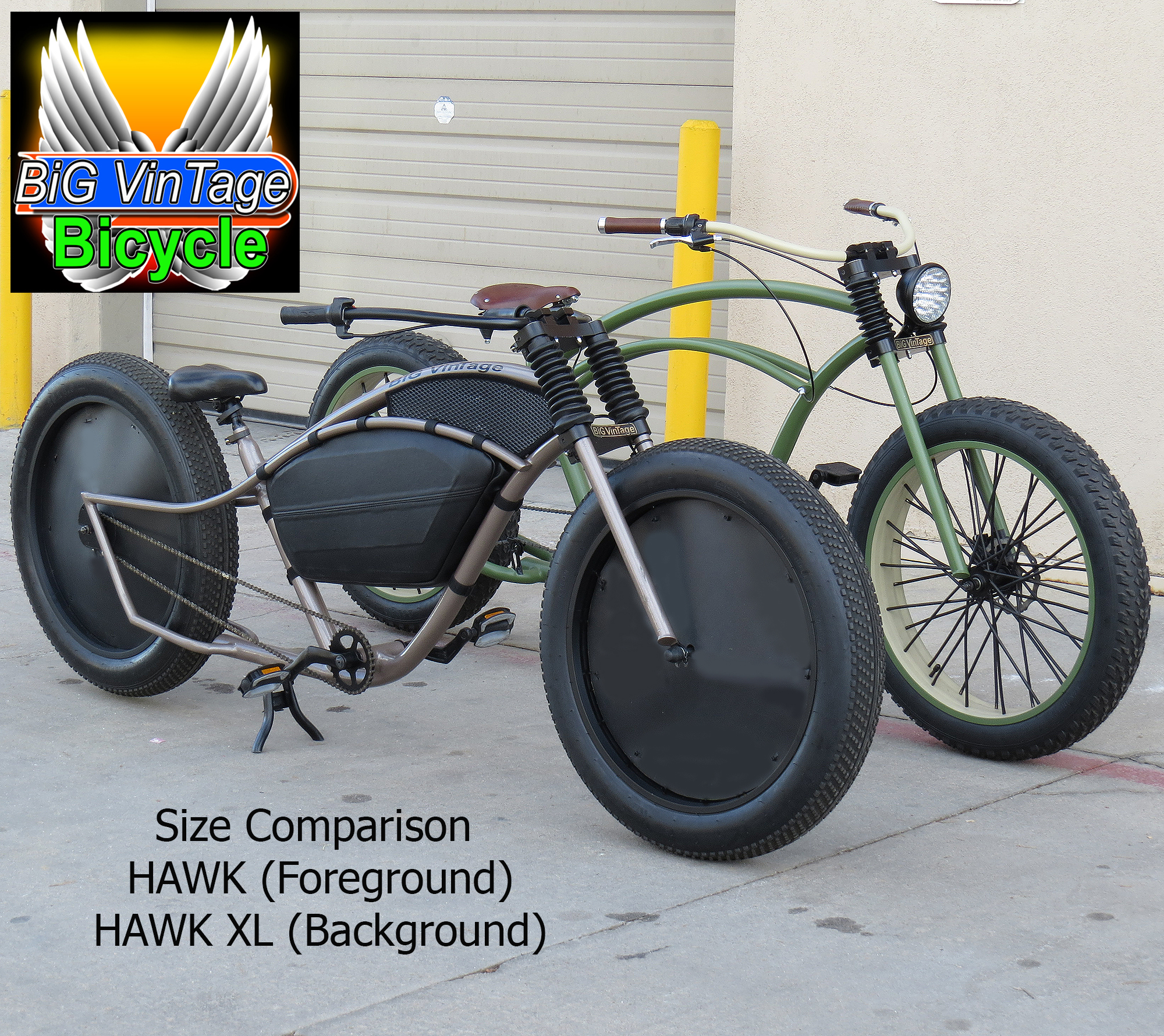 Tire Size Comparison >> Official Big VinTage Bicycle ® | HUGE Fat Tire Beach ...