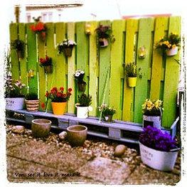 sichtschutz aus europaletten – rekem, Garten und Bauen