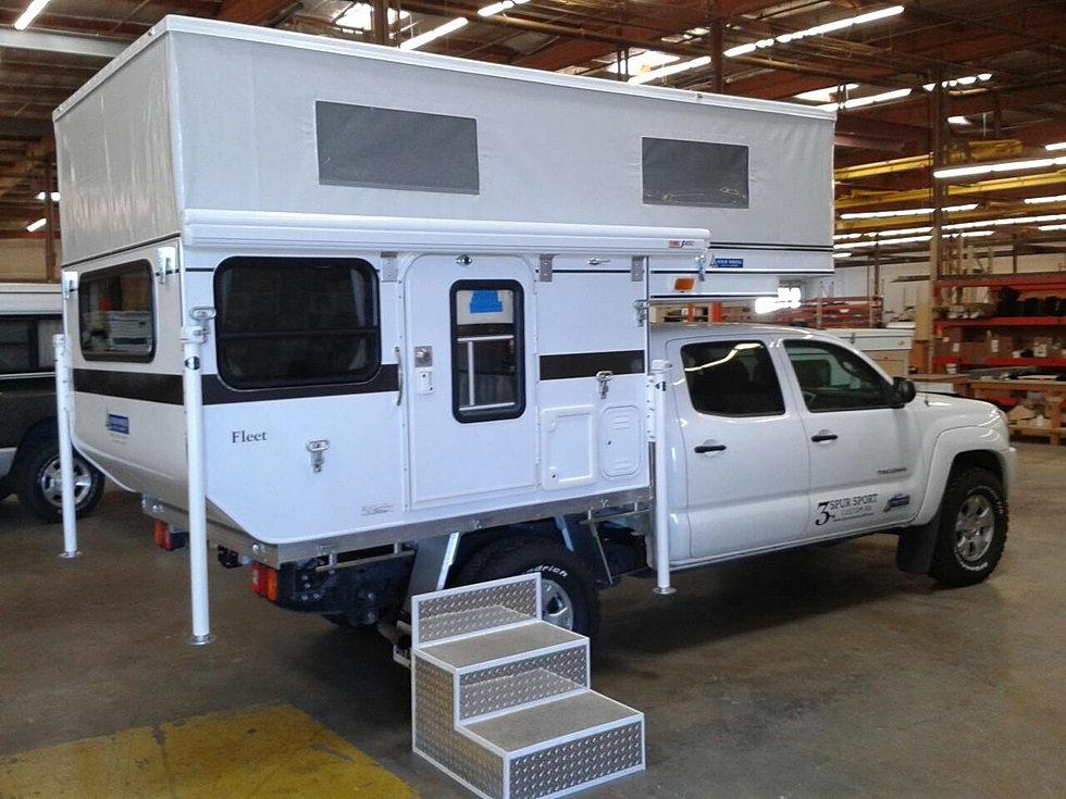 Fleet Flat Bed Camper in Factory