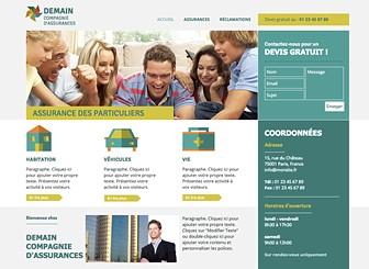 Compagnie d'Assurances Template - Professionnel et simple à utiliser, ce template informatif vous permet de mettre en avant vos services. Modifiez le contenu, ajustez la palette de couleurs et le design pour créer un site Internet élégant, à l'image de votre entreprise.