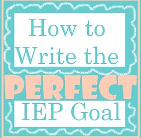 Iep goals for writing a sentence