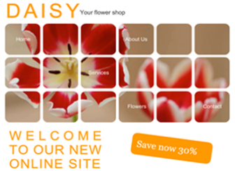 My Flowers Shop Template - Display your company and its services in a soft and tasteful manner and let this template do the work for you.  Whatever you specialize in, if its part of the events production industry or your very own small flower business, just customize with your text and visuals and make this design your own.