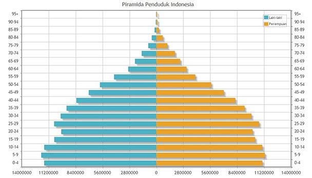 Piramida Penduduk di Indonesia