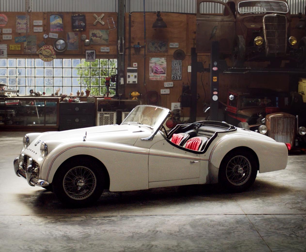 Vintage auto garage california