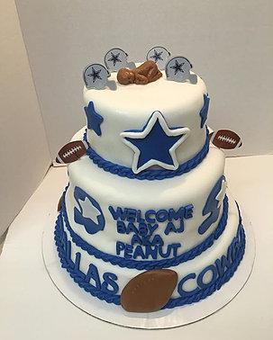 Charming Dallas Cowboys Baby Shower Cake