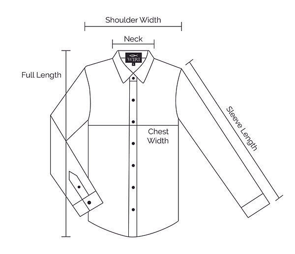 how to measure for a mans shirt
