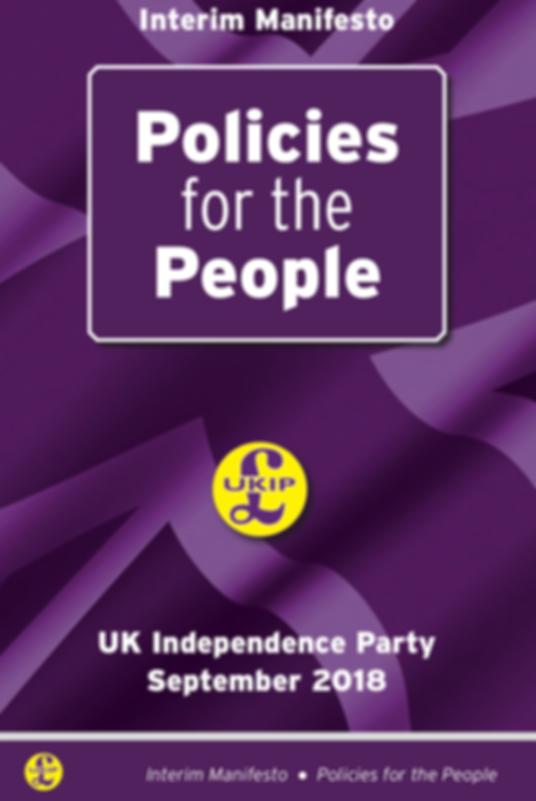 UKIP Manifesto Policies 2018