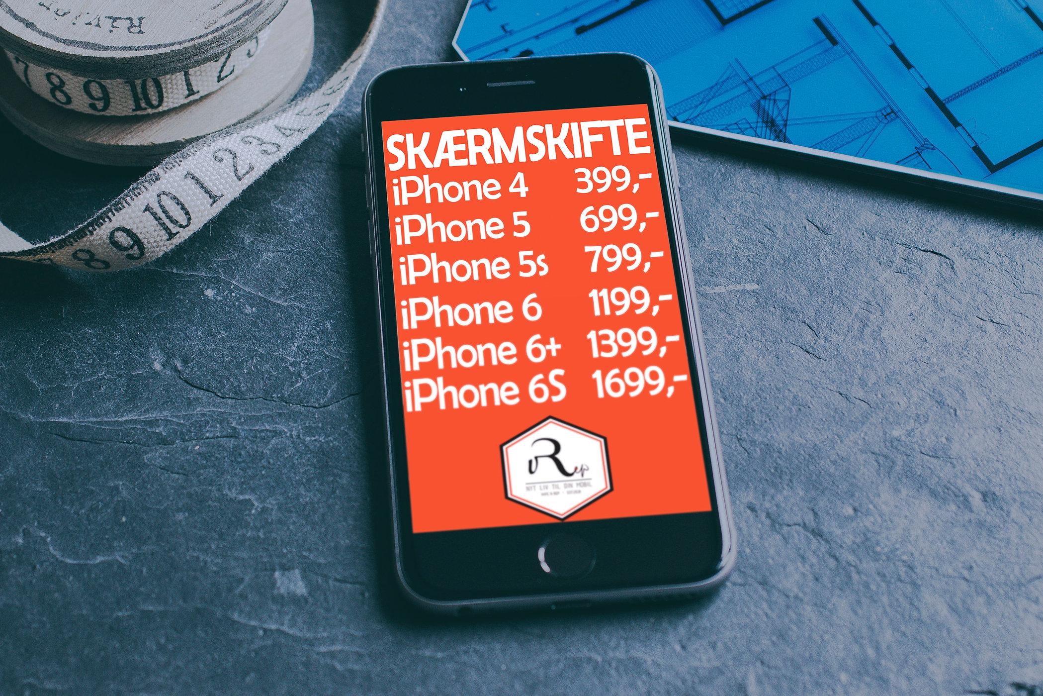 nyt batteri iphone 6 pris