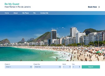 Rio Host Rental Template - Host your home to guests across the world using this stylish hotel template that's almost ready-to-go! Simply edit the text and change the images to showcase your beautiful home and entice guests to stay in your home. Using Wix Hotels, you can add the rooms you wish to rent, edit any important information and choose your preferred payment method. Start editing now to transform your home into the perfect guesthouse!