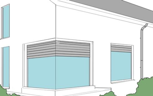 Bachnagel eckrollladen rollverschluss cornerrollershutter for Fenetre d angle