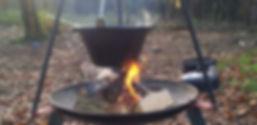 Buitenkoken met open vuur