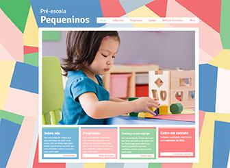 Pré-escola Template - Um template de website em HTML feito com diversão e entusiasmo. Totalmente personalizável e muito fácil para editar e atualizar. Leve hoje seu negócio pro mundo online e faça seu próprio website com Wix!