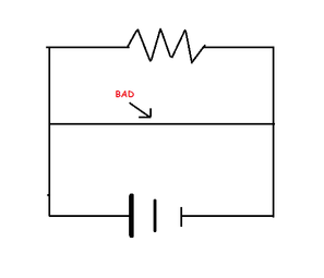 Short note on series-parallel circuit