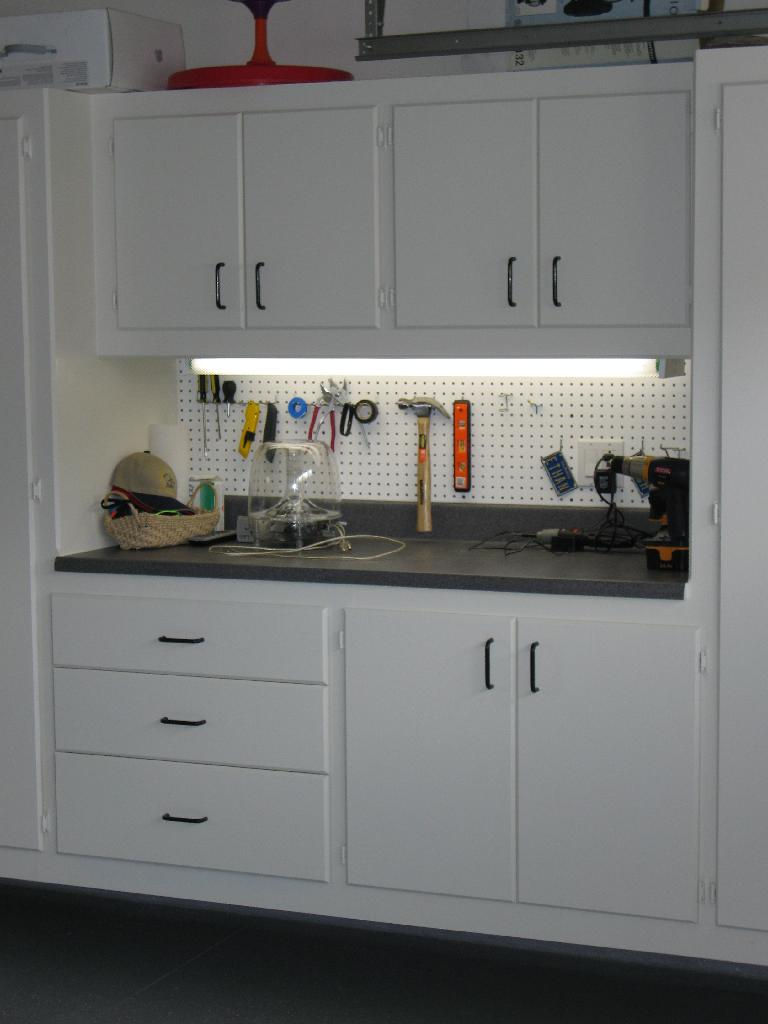 Garage Cabinet And Workbench Images