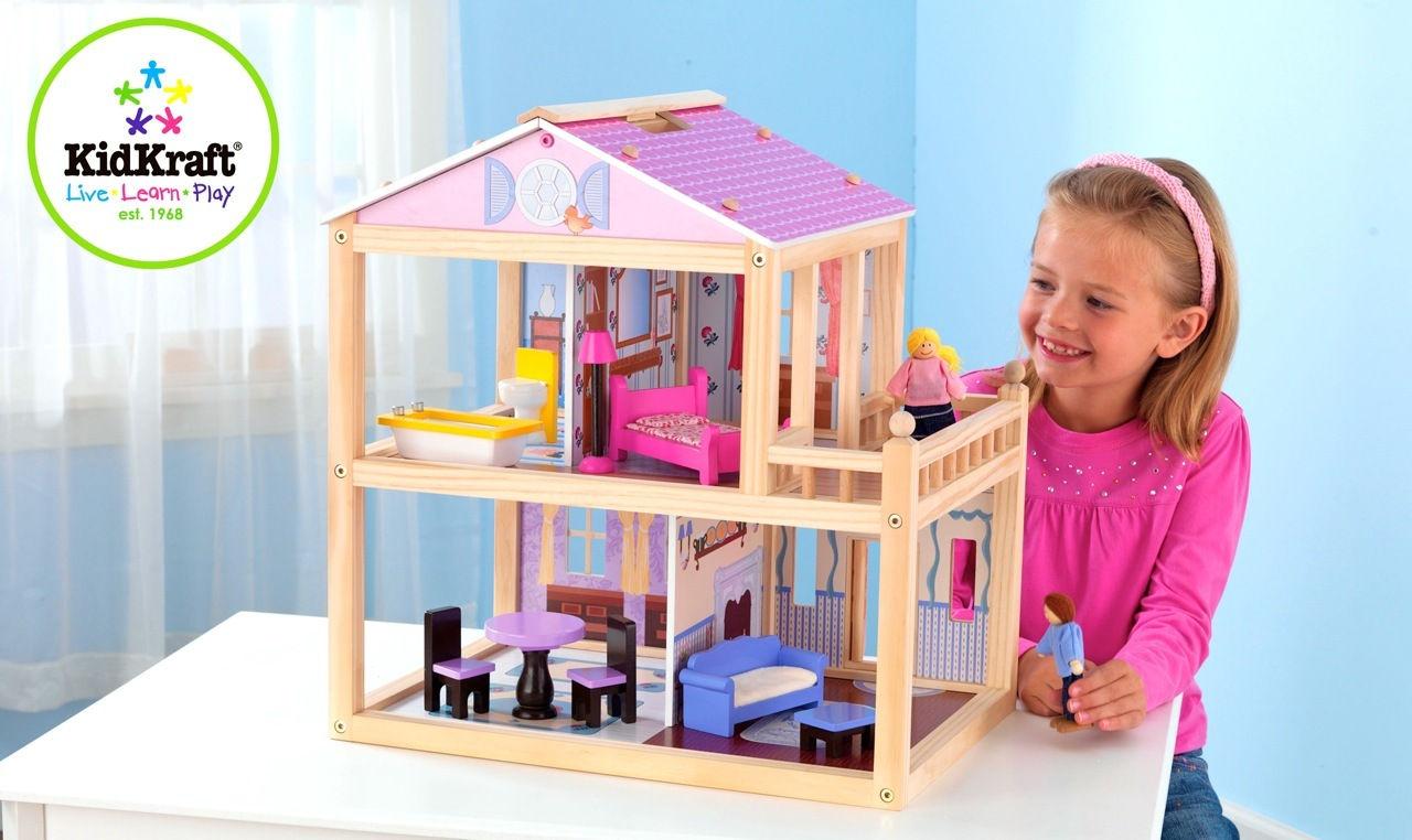 Как сделать дом для кукол с фото