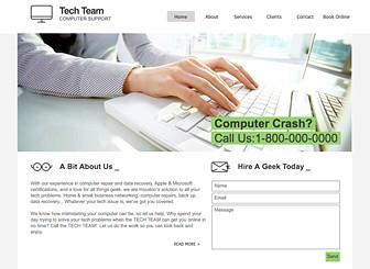 Tech Support Website Template   WIX