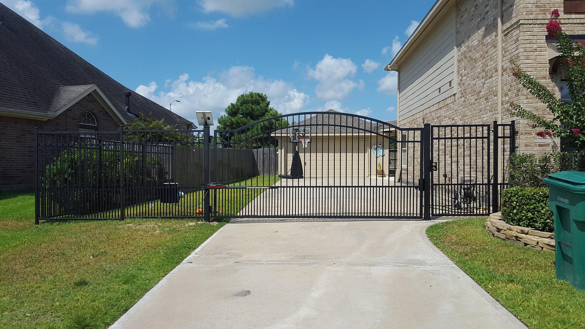 Wrought iron fence installation Houston TX